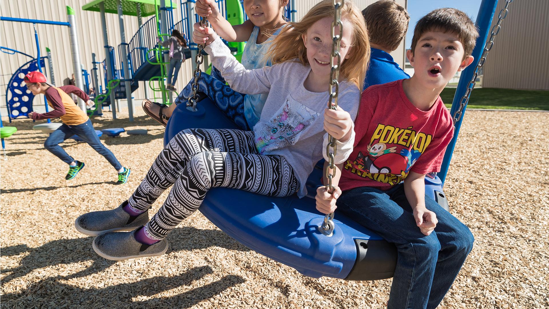 Watersprings School kids on the playground